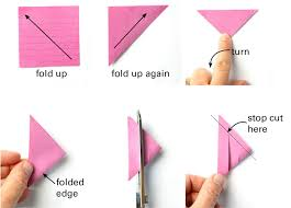 Make 3D Paper Stars From Post It Notes Step