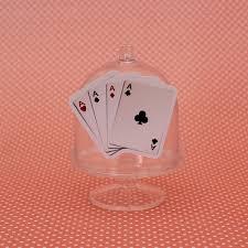 Minicúpula Com Aplique Cassino Cartas De Baralho Poker