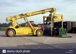 Giant Lift Trucks Are Used To Load Container Cargo At The EWS ... Used 4000 Clark Propane Forklift Fork Lift Truck 500h40g Trucks Duraquip Inc 2018 Cat Gc55k In Buffalo Ny Scissor For Sale Best Image Kusaboshicom Bendi Be420 Articulated Forklift Forklifts Fork Lift Truck Hire Buy New Toyota Forklifts Chicago Il Nationwide Freight Lift Trucks And Pallet Used Lifts Boom Sweepers Material Handling Equipment Utah Action Crown