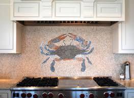 Mosaic tile backsplash from New Ravenna