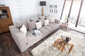 design sofa big sofa island soft baumwolle greige inkl