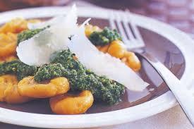 Pumpkin Gnocchi Recipe by Pumpkin Gnocchi With Spinach Pesto