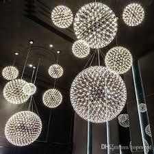 großhandel moderne wohnzimmer pendelleuchte licht edelstahl led kronleuchter feuerwerk licht restaurant villa hotel anhänger beleuchtung
