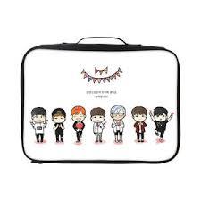 Image Is Loading BTS Bangtan Cute Cartoon Jimin Travel Luggage Storage