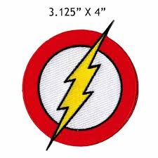 The Flash Classic Lightning Bolt Logo Patch Iron On Patches Rhinestone Applique