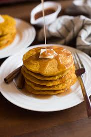 Bisquick Pumpkin Puree Waffles by Pumpkin Pancakes With Cinnamon Syrup Tastes Better From Scratch