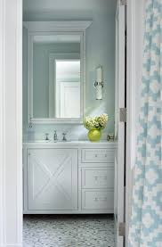 Gray And Aqua Bathroom by Turquoise Bathroom With Gray And Blue Penny Tiled Floor