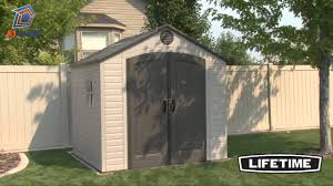Keter Stronghold Shed Instructions by Lifetime 8x7 5 Plastic Shed Youtube