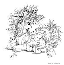 Amazing Baby Fairy And Unicorn Coloring Pages For Adults