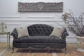 Tufted Velvet Sofa Toronto by Living Room Moulin Grey Velvet Button Tufted Sofa Inside Gray