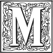 Letter M With Ornament