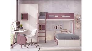 bureau superposé lit superposé séparable avec armoire d angle glicerio so nuit