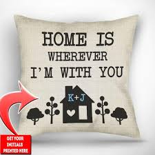 Personalized Home is Wherever I m With You Throw Pillow Cover 18