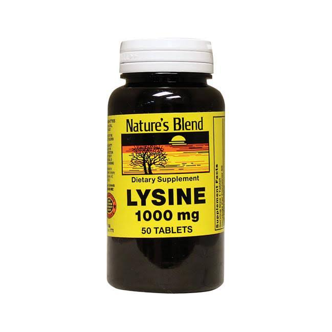 Nature's Blend Lysine Dietary Supplement - 1000mg, 50ct