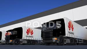 Freight Semi Trucks With Huawei Logo Loading Or Unloading At ... Semi Trailer Truck Logos Logo Template Logistic Trick Isolated Vector March 2017 Rc4wd Gelande Ii Kit 110 Chassis Food Download Free Art Stock Graphics Images Vintage Hand Lettered Decals Artcraft Sign Co Logo Design Mplate Traffic Or Royalty Illustrator Tutorial Design Youtube Commercial Truck Stock Vector Illustration Of Cartoon 21858635 Mack Trucks Pinterest Trucks And Dale Jr 116scale Hauler With Photos And Diet Mountain