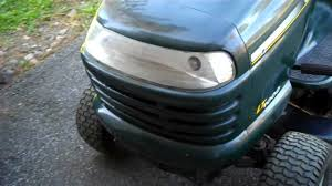 Craftsman Lt2000 Drive Belt Diagram by Craftsman Lt1000 Lawn Tractor 21hp Mower Briggs U0026 Stratton Youtube