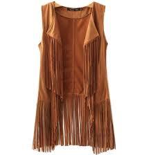 amazon com new tassels fringe sleeveless suede vest cardigan