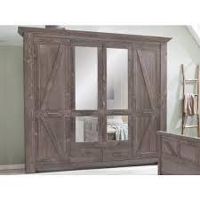 schlafzimmer landhausstil modern set kiefer braun baltic mit 4tr schrank