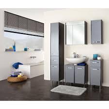 badezimmer spiegelschrank anthrazit hochglanz treviso 2 türig inklusive led beleuchtung velo 60 x 70 cm