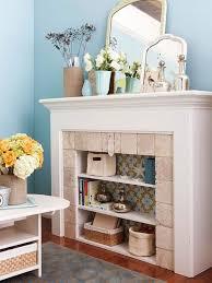 unbenutzter kamin wohnzimmer offene regale kamin dekor