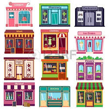 Inside Electronics Store Outline Clipart