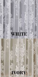 Priscilla Curtains With Attached Valance by Lace Curtains Carly Floral Lace Curtain Panel With Attached