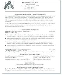 Resume Examples For Child Care Teacher Sample Assistant With No Experience