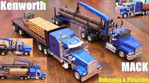 100 Semi Truck Toy Diecast S Hauler S Kenworth And Mack Unboxing RC TANK Playtime