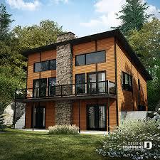 100 Chalet Moderne Plan De Chalet Moderne Avec Grand Balcon Foyer Dessins Drummond