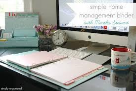 Simple Home Management Binder with Martha Stewart simply organized