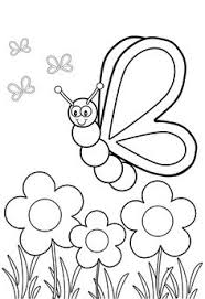 Insect Coloring Pages Butterflies And Flowers