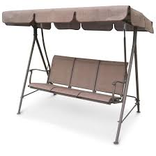 Patio Swings With Canopy by Canopied Porch Swing 3 Person 653447 Patio Furniture At