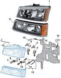 headlight parklight 2003 07 chevy silverado lmc truck