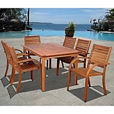 7 Piece Patio Dining Set by Outdoor Patio Dining Sets Dining Tables U0026 Chairs Bed Bath U0026 Beyond