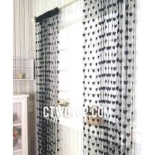 Gray Ruffle Blackout Curtains by Sheer Polka Dot Curtains Baby Blackout Curtains Ruffle Blackout
