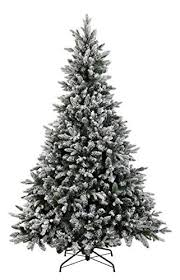 ABUSA Flocked Christmas Tree 75 Ft Prelit Clearance With 700 LED Clear Lights 1452 Branch Tips