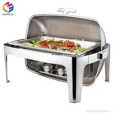 Buffet Food Warmer Hotel Serving Dishes Stainless Steel Chafing
