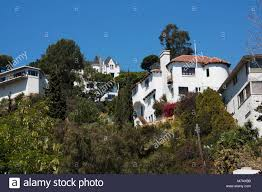 100 Hollywood Hills Houses Low Angle View Of Houses On A Hill Los