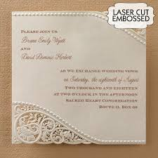 Laser Cut Vintage Lace Wedding Invitations