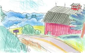 For Artist, 'Draw New Hampshire' A Trip Down Memory Lane   New ... The Barn Westside Rd Urban Sketchers North Bay Old House Sketches Modern Drawn Farm Barn Pencil And In Color Drawn How To Draw A Drawing Wranglers Ribbons Every Place Has A Story To Tell Simple Farm 6 Steps With Pictures Wikihow Clip Art Of And Silo Stock Photography Image Wikipedia Gallery Old Drawings
