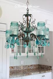 chandeliers design wonderful shabbyfufu blue jar