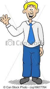 Waving Business Man Vector