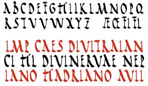 Rustic Capitals Fonts CDD