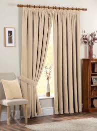 Thermal Lined Curtains Australia by Just Contempo Chenille Pencil Pleat Lined Curtains Cream 90x72