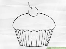 Cupcake Drawing 3 Ways to Draw A Cupcake Wikihow