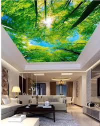 custom 3d foto wand papier decken blau sky schöne wohnzimmer schlafzimmer decke landschaft tapeten wandbilder