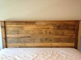 DIY King Sized Pallet Wood Headboard