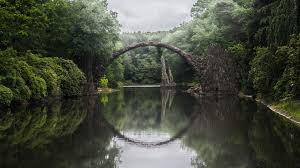 100 Water Bridge Germany Rakotzbrucke Bridge Kromlau 2048 X 1152