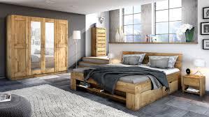schlafzimmer set 4 tlg toni wildeiche teilmassiv 180x200