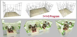 Custom Flexible Modular Portable Exhibition Trade Show Booth For Clothing